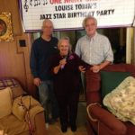 Louise Tobin with Harry James Jr and Mike Kubiak for 95th Birthday
